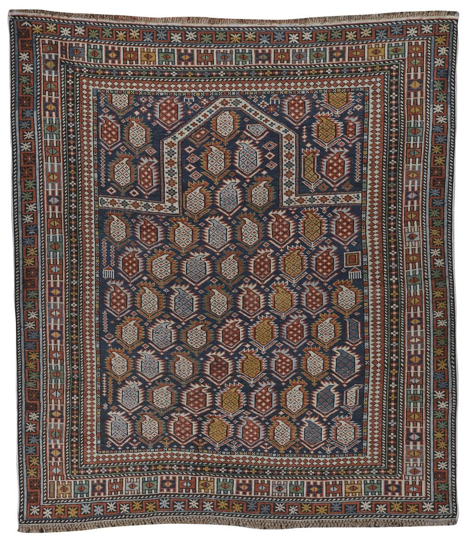 Shirvan Marasalli Prayer Rug, Caucasus; 4 ft. 9 in. x 4 ft. 3 in.