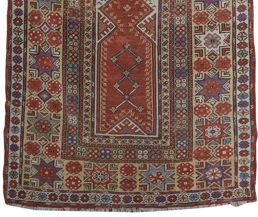 Melas Prayer Rug, Turkey, mid 19th century; 4 ft. 10 in. x 3 ft. 6 in.