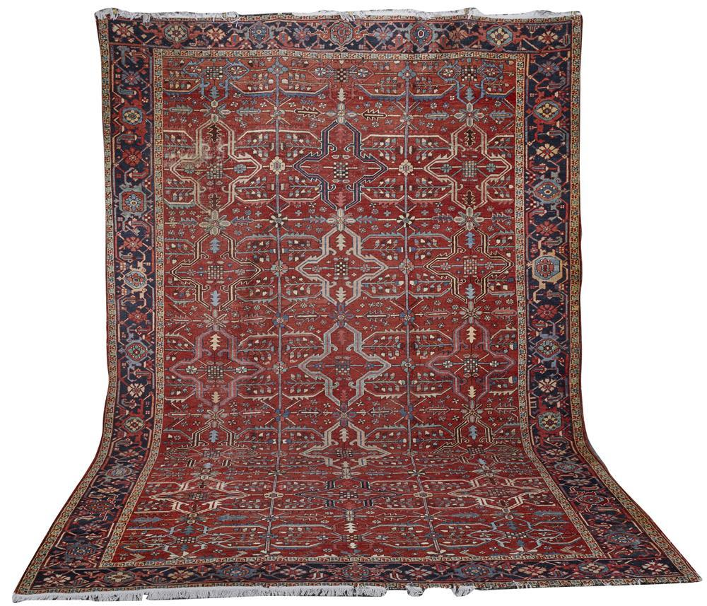 Heriz Carpet, Persia, ca. 1900; 13 ft. 8 in. x 9 ft. 6 in.