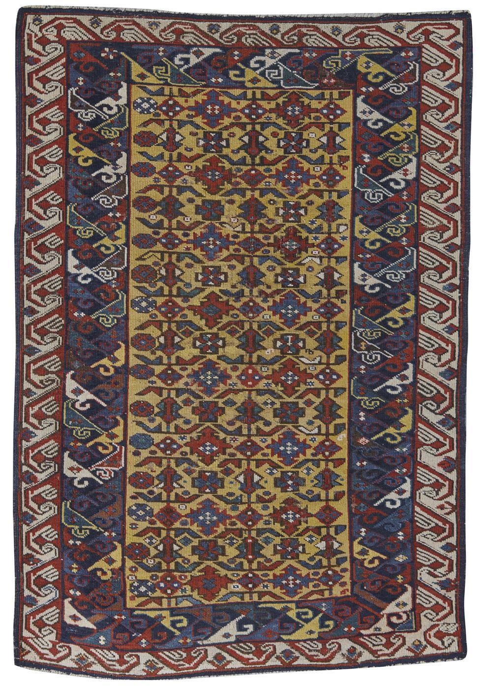 Kuba Rug, Caucasus, last quarter 19th century; 3 ft. 10 in. x 2 ft. 7 in.
