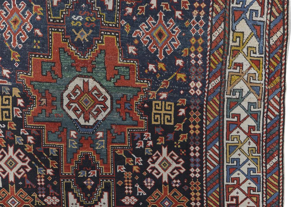 Lesghi Rug, Caucasus, ca. 1900; 6 ft. 4 in. x 3 ft. 10 in.