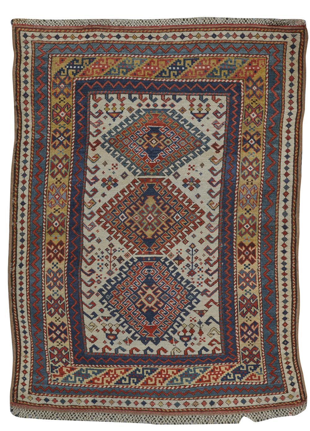 Kazak Rug, Caucasus, last quarter 19th century; 5 ft. 2 in. x 4 ft.