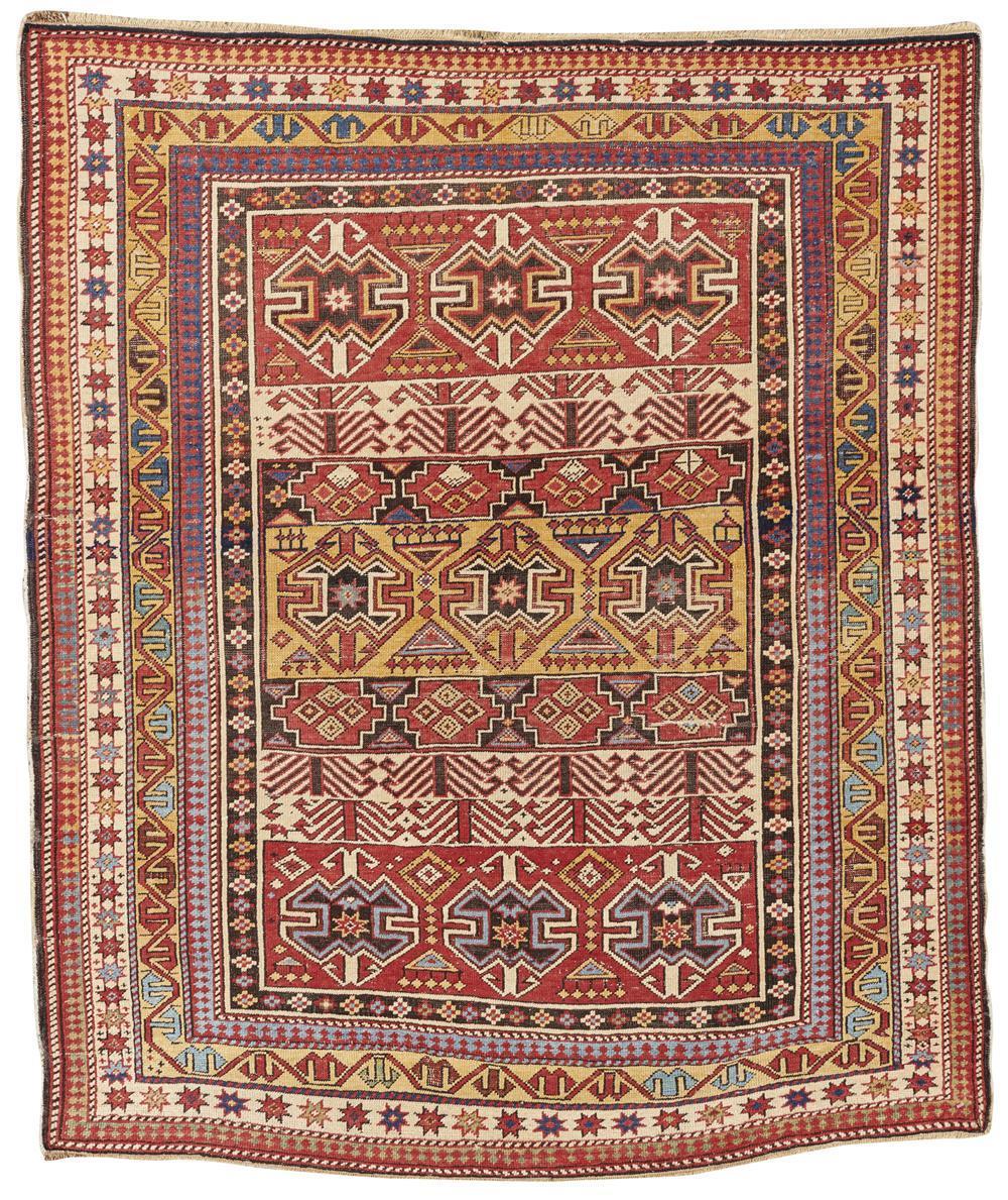 Shirvan Rug, Caucasus, ca. 1900; 4 ft. 7 in. x 3 ft. 10 in.
