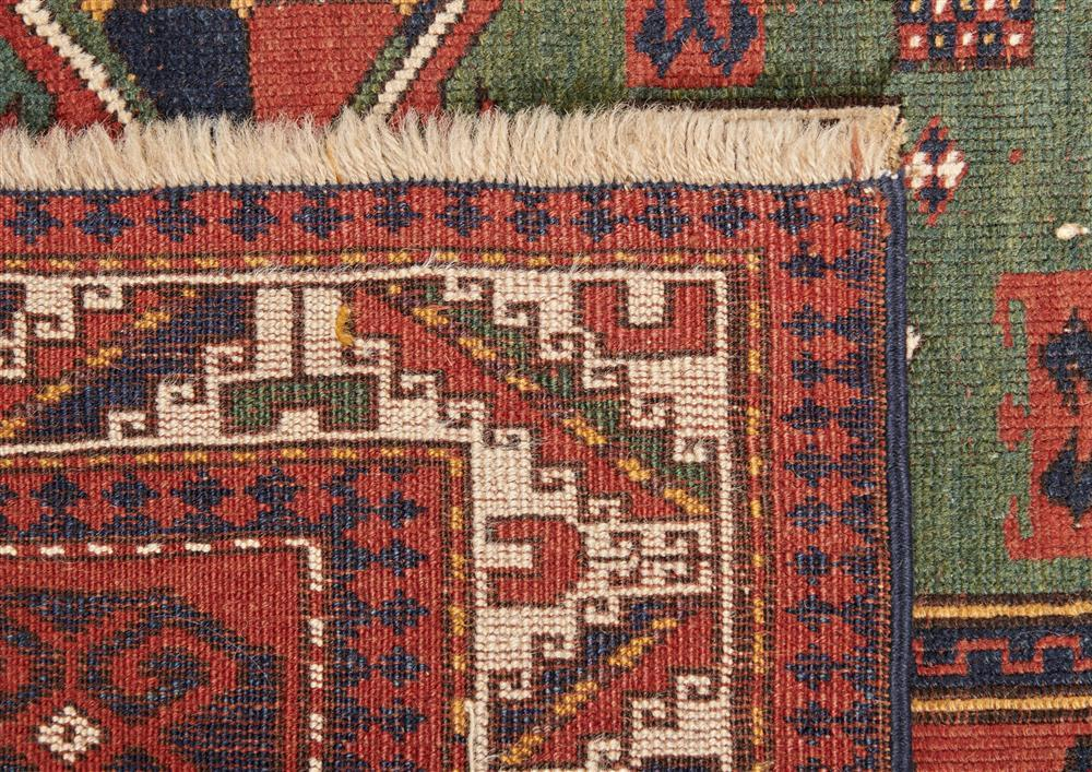 Kazak Prayer Rug, Caucasus, ca. 1900; 5 ft. x 3 ft. 11 in.