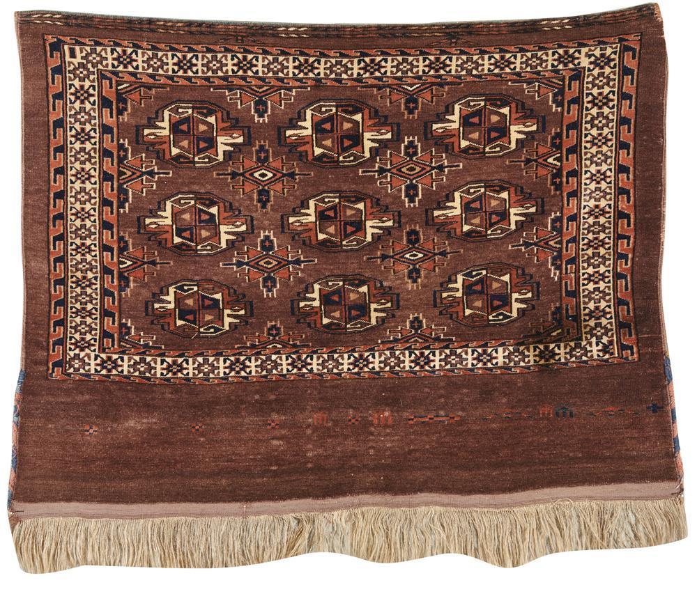 Yomud Juval, Turkestan, ca. 1900; 2 ft. 11 in. x 3 ft. 10 in.
