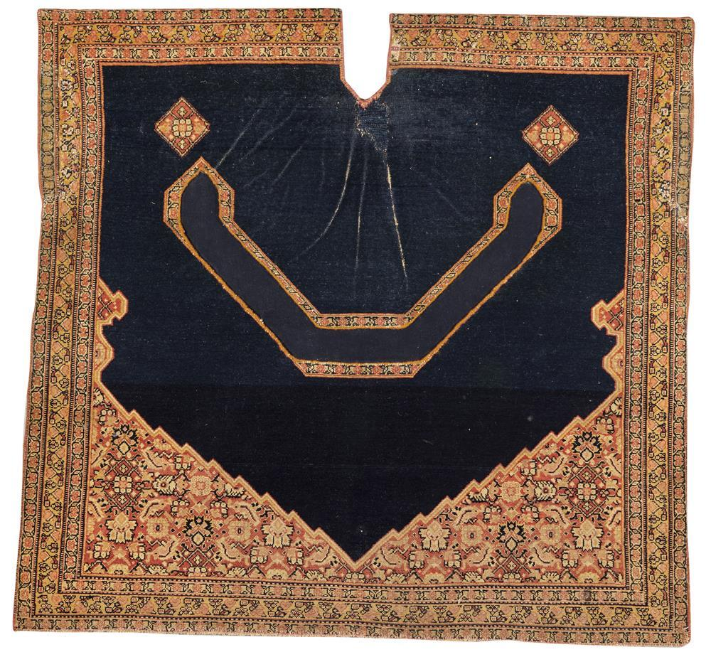 Fine Senna Saddle Rug, Persia, late 19th century; 3 ft. 3 in. x 3 ft. 5 in.