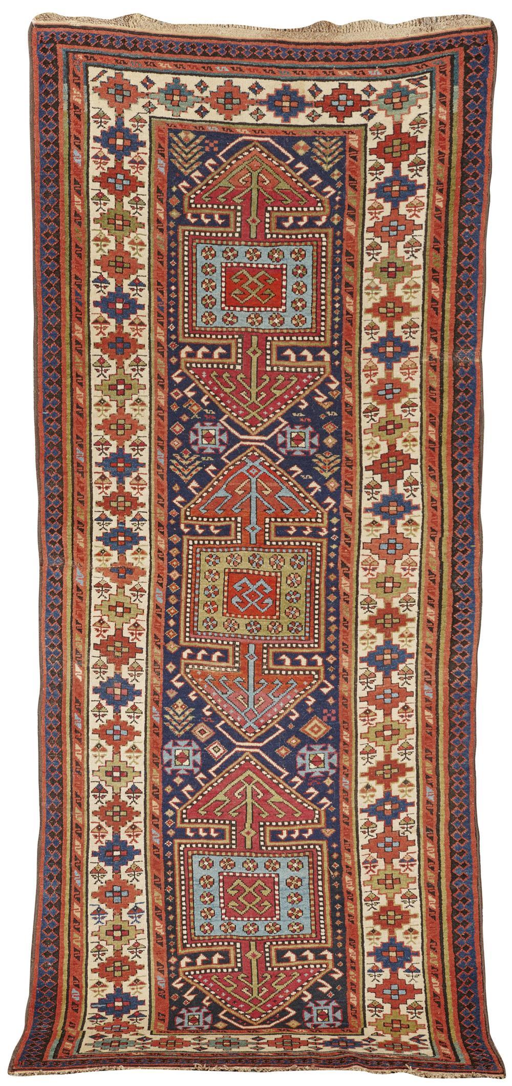 North West Persian/South Caucasian Rug, ca. 1900; 8 ft. 6 in. x 3 ft. 7 in.