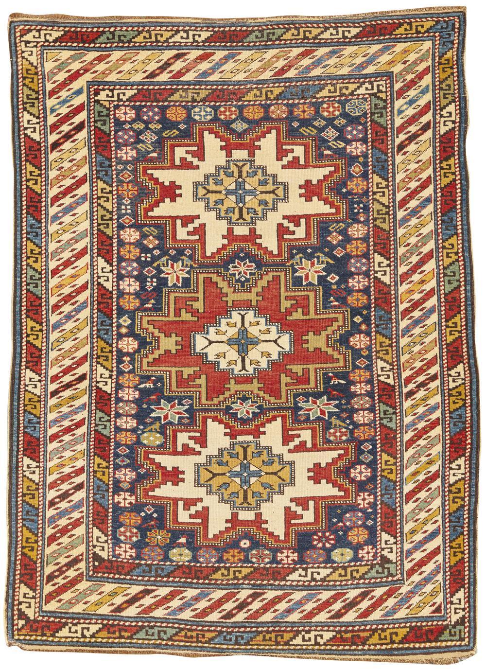 Lesghi Rug, Caucasus, ca. 1900; 4 ft. 5 in. x 3 ft. 5 in.