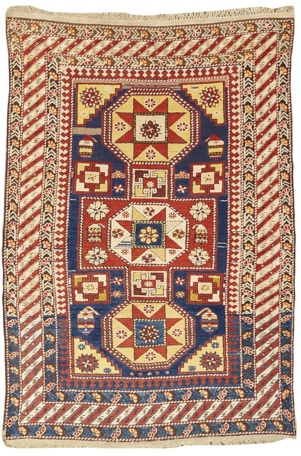 Baku Chila Rug, Caucasus, ca. 1900; 5 ft. 7 in. x 3 ft. 9 in.