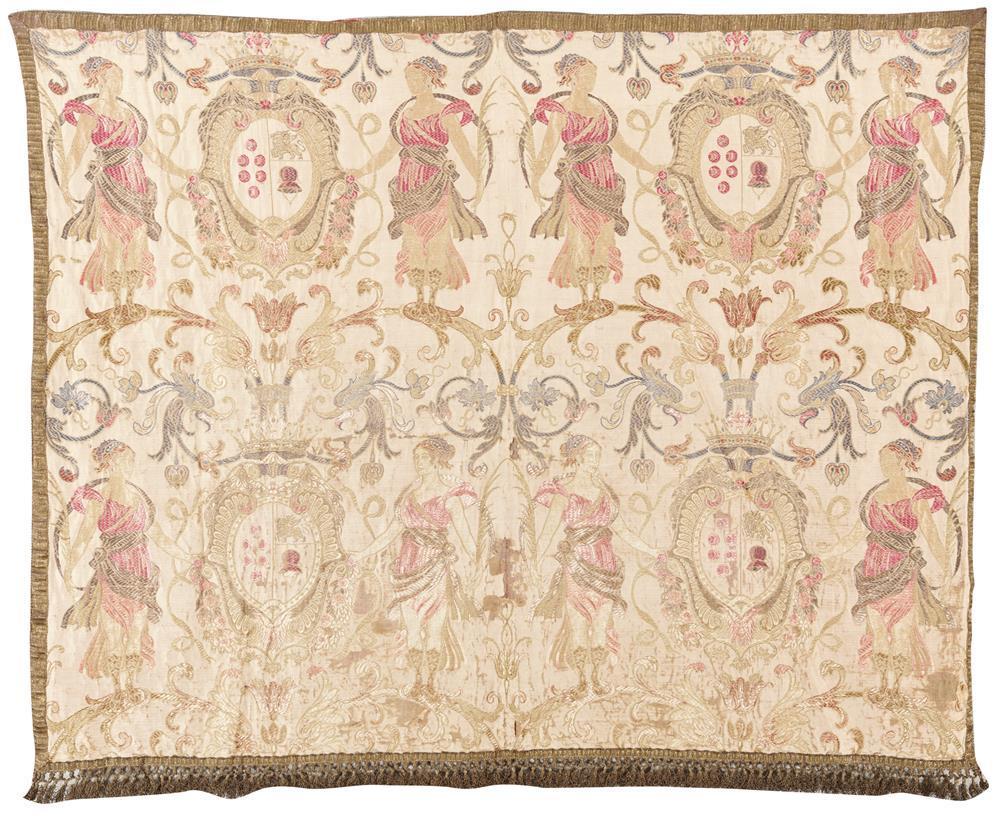 Italian Textile, 17/18th century; 3 ft. 10 in. x 3 ft.