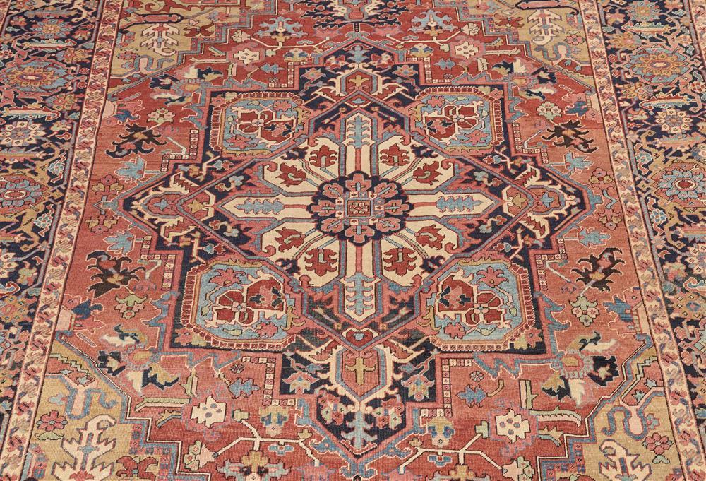 Heriz Carpet, Persia, ca. 1910; 12 ft. x 9 ft. 6 in.