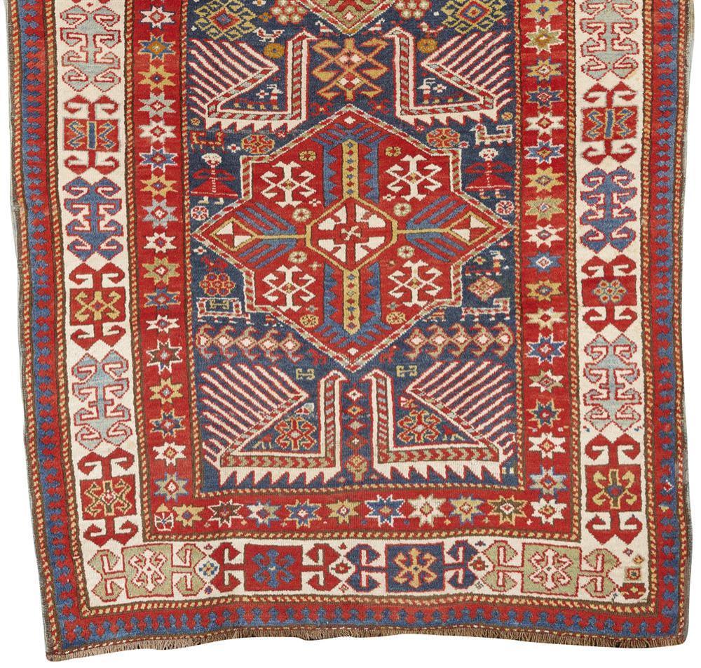 Karabagh Rug, Caucasus, dated 1893; 7 ft. 6 in. x 4 ft. 7 in.