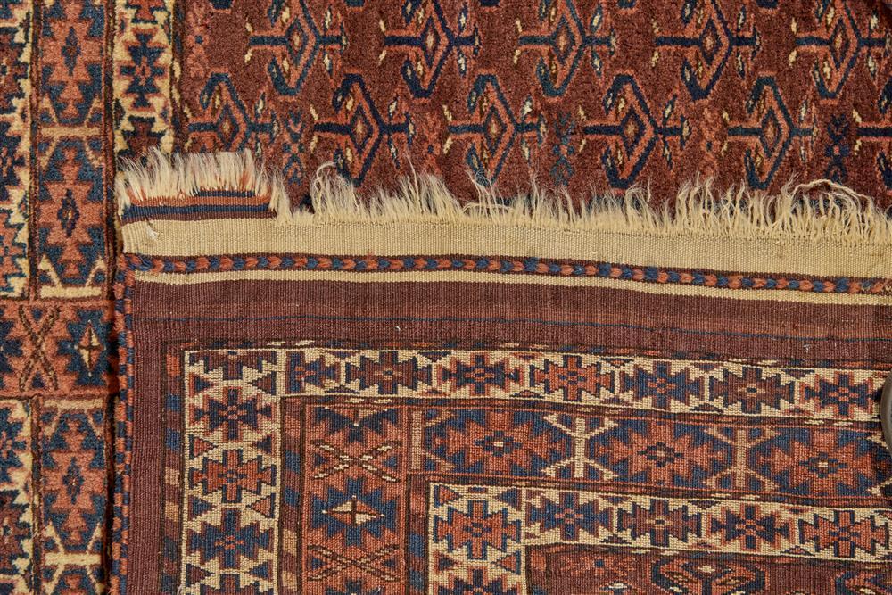 Yomud Ensi, Turkestan, ca. 1900; 5 ft. 7 in. x 4 ft. 2 in.