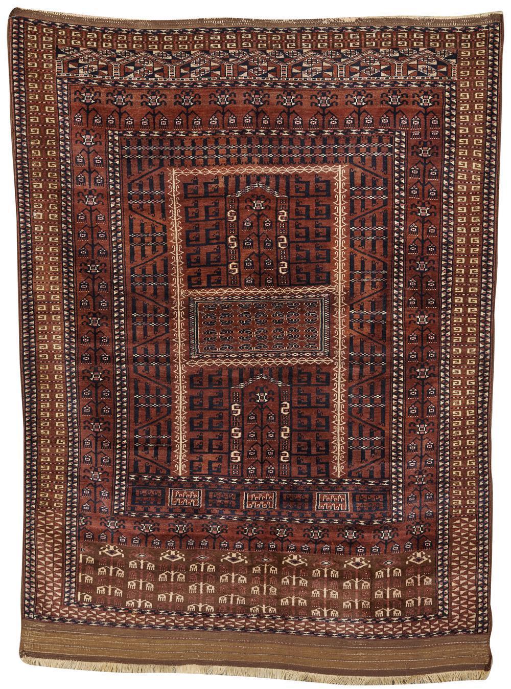 Saryk Ensi, Turkestan, ca. 1900; 6 ft. 1 in. x 4 ft. 6 in.