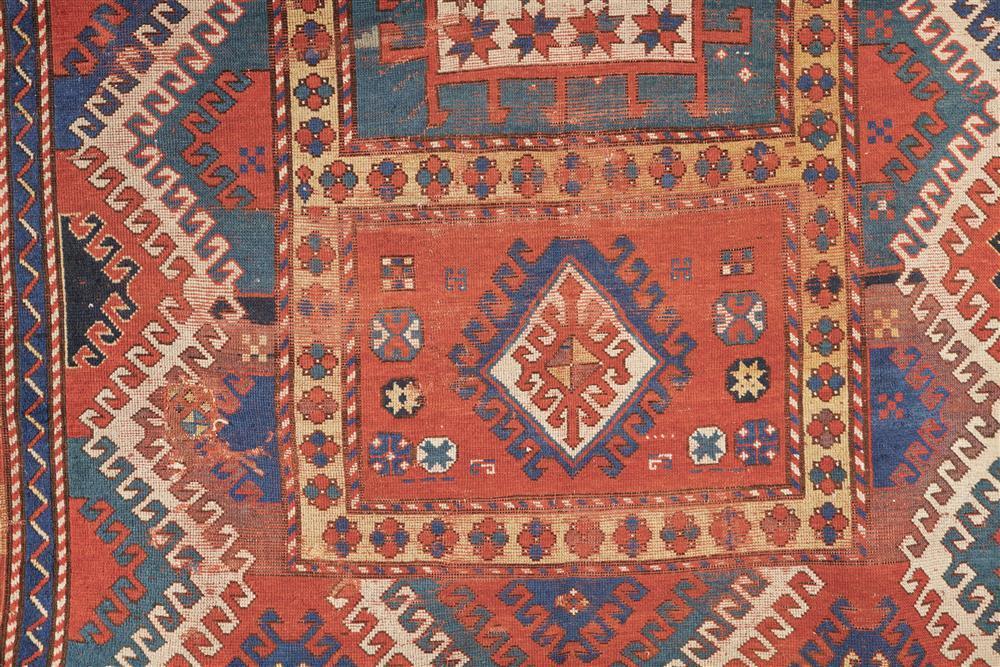 Borjalou Kazak Rug, Caucasus, late 19th century; 7 ft. 6 in. x 5 ft. 9 in.