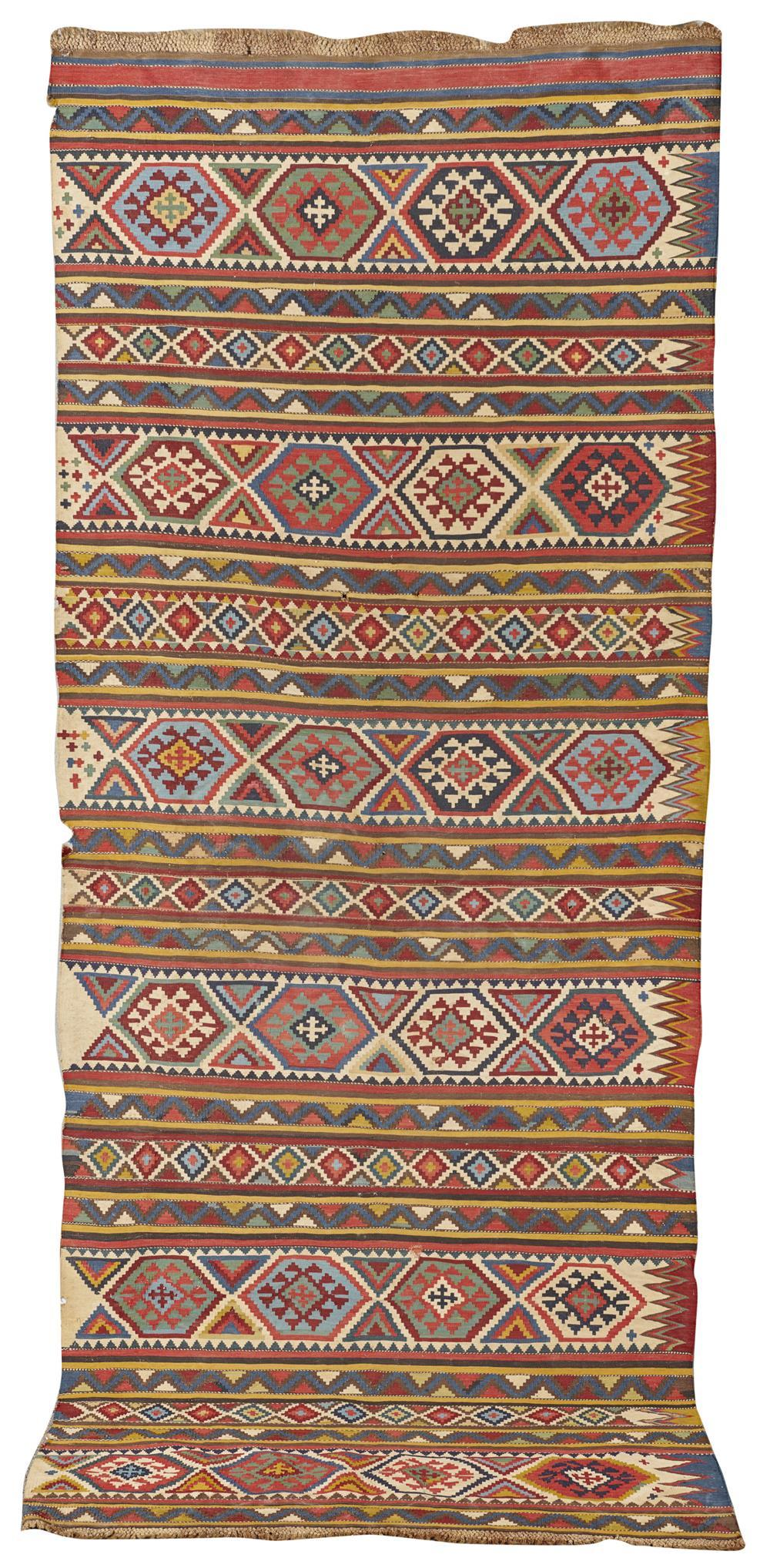 Caucasian Kilim Panel, late 19th century; 9 ft. 5 in. x 3 ft. 10 in.