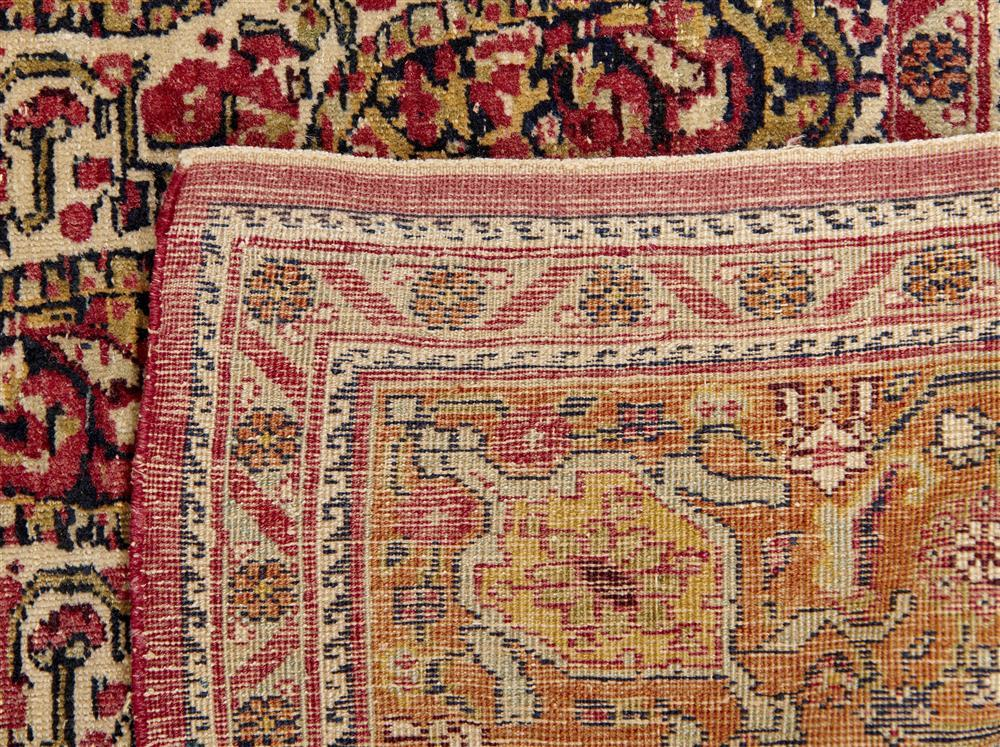 Kirman Horse Blanket, dated 1311 (1898), with inscription panlels; 5 ft. 7 in. x 5 ft.