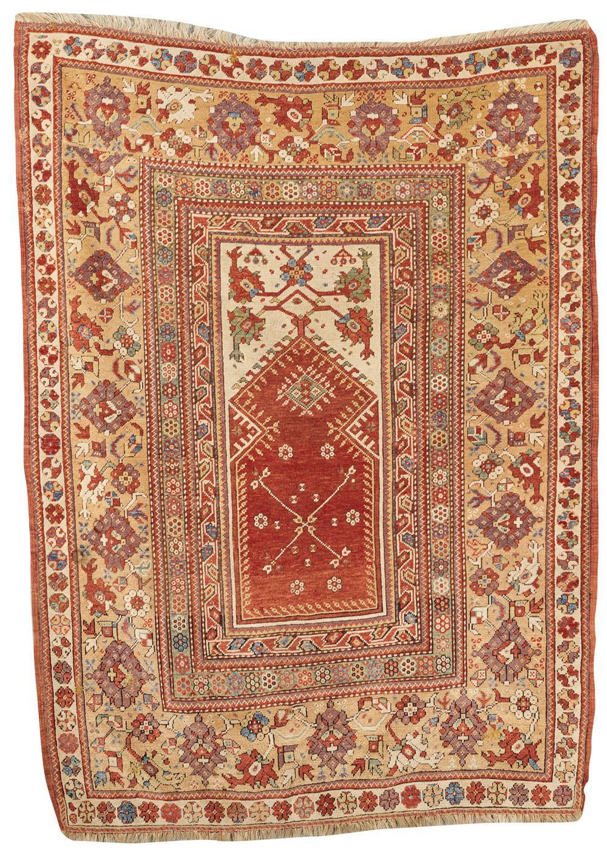 Melas Prayer Rug, Turkey, mid 19th century; 6 ft. x 4 ft. 1 in.