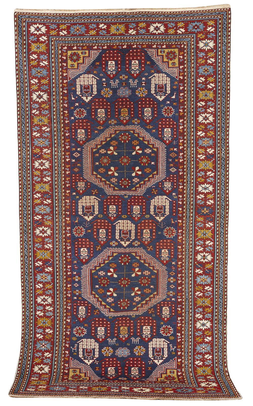 Baku Chila Rug, Caucasus, first quarter 20th century; 8 ft. 11 in. x 4 ft. 7 in.