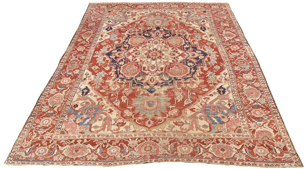 Heriz-Serapi Carpet, Persia, ca. 1890; 12 ft. 6 in. x 9 ft. 7 in.