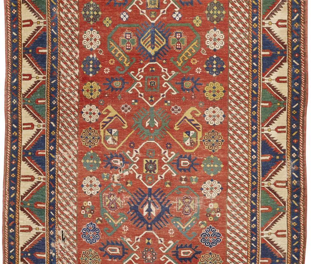 Caucasian Rug, ca. 1875; 7 ft. 10 in. x 4 ft. 11 in.