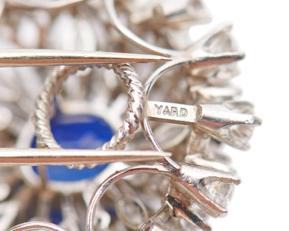 RAYMOND YARD Platinum, Kashmir Sapphire, and Diamond Dress Clips