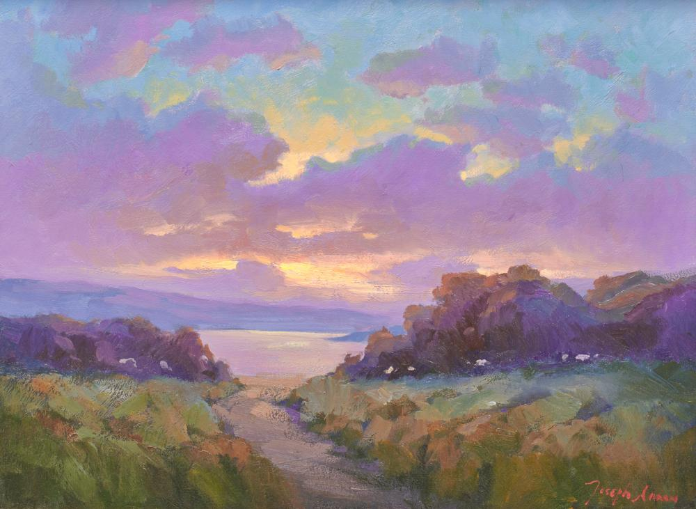 JOSEPH AARON, (American, b. 1959), Sunset View, oil on canvas, 18 x 24 in., frame: 22 1/2 x 28 1/2 in.