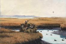 AIDEN LASSELL RIPLEY, (American, 1896-1969), The Single, watercolor, 21 x 30 in., frame: 28 x 38 1/2 in.