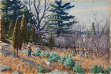 AIDEN LASSELL RIPLEY, (American, 1896-1969), A Wild Grouse, watercolor, sheet: 20 x 30 in.