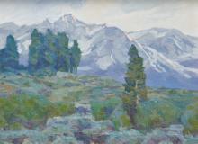 OVANES BERBERIAN, (American, b. 1951), California Landscape, oil on Masonite, 12 x 16 in., frame: 17 1/2 x 21 1/2 in.