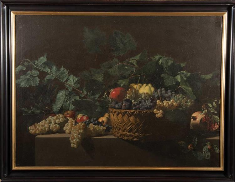 MANNER OF ANTONIO DE PEREDA, (Spanish, 1611-1678), STILL LIFE, oil on canvas, 34 1/2 x 46 1/2 in., frame: 40 x 52 in.