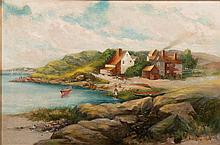 EDWARD A. PAGE, (American, 1850-1928), NORTH SHORE COLONY, oil on canvas, 20 x 30 in., frame: 27 x 37 in.