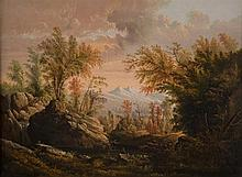 CHARLES OCTAVIUS COLE, (American, 1814-1858), DREAM LAND, 1855; oil on canvas;, 18 x 24 in. (24 1/2 x 30 1/2 in.)