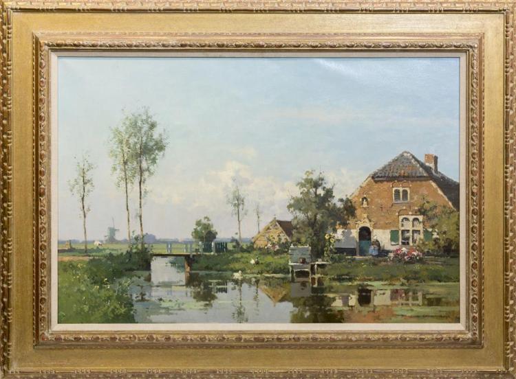 CORNELIS VREEDENBURGH, (Dutch, 1880-1946), BOERDERIJ, oil on canvas, 24 x 36 in. (33 1/4 x 45 1/4 in.)
