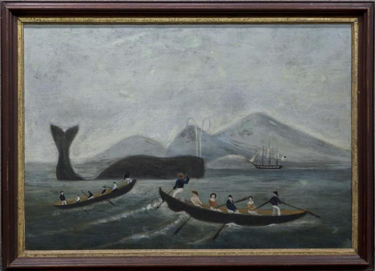 NAIVE SCHOOL , (19th century), THE WHALE FISHERY