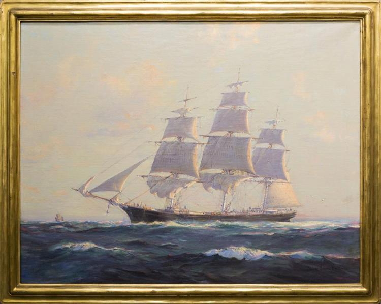 FRANK VINING SMITH, (American, 1879-1967), THE CLIPPER SHIP