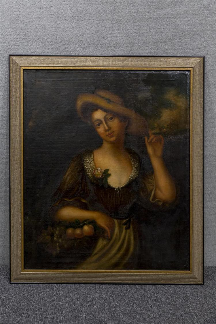 SWISS SCHOOL , (19th century), PORTRAIT OF A YOUNG WOMAN, oil on canvas, 30 x 25 in. (34 1/2 x 29 1/2 in.)