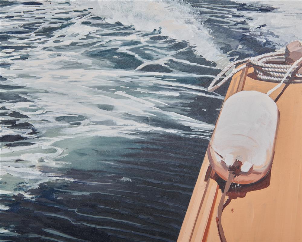 RICHARD ESTES, (American, b. 1932), Mount Desert VI, 1996, oil on wood, 14 1/2 x 20 1/4 in., frame: 19 1/2 x 25 1/2 in.