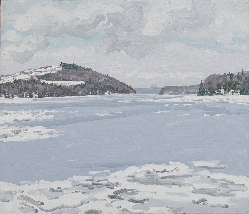NEIL WELLIVER, (American, 1929-2005), Pitcher Pond, Lincolnville, Maine, oil on canvas, 12 x 14 in., frame: 13 1/4 x 15 1/4 in.