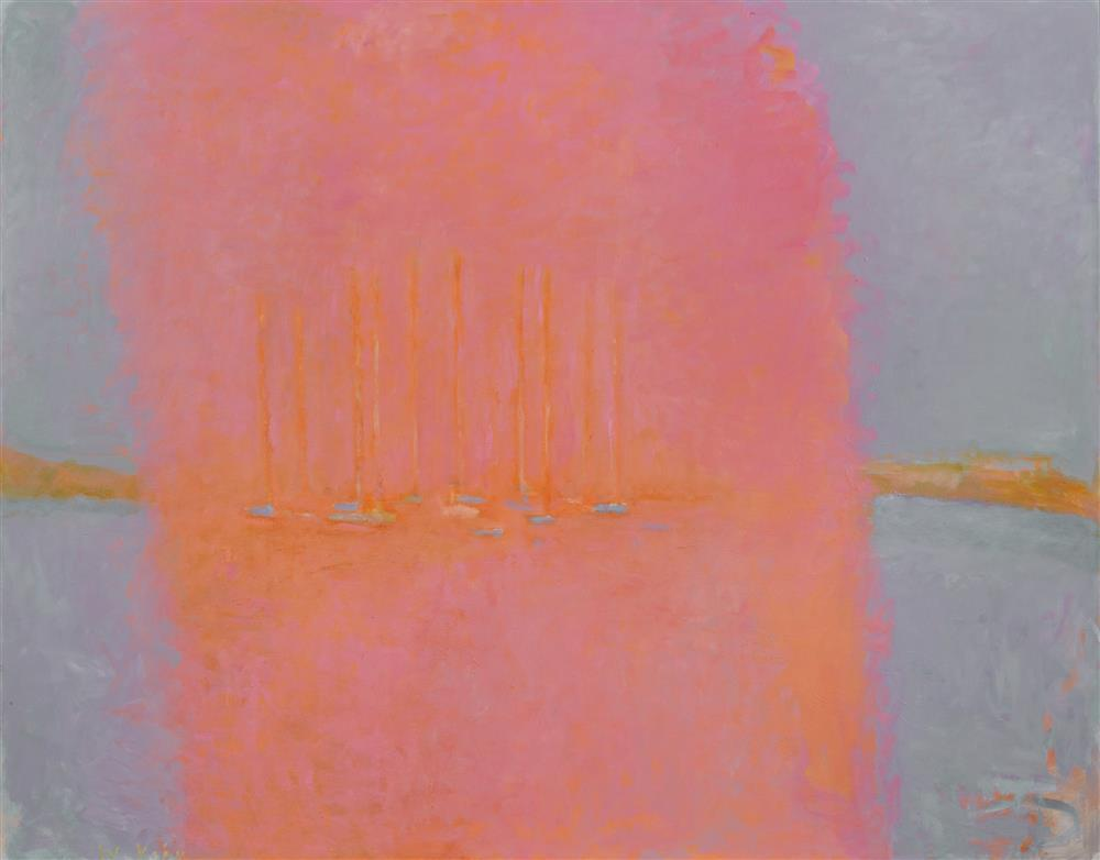 WOLF KAHN, (American, b. 1927), Fog Bank, 1997-2006, oil on canvas, 52 x 66 in., frame: 53 1/4 x 67 1/4 in.
