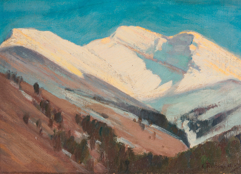 CARL RUNGIUS, (American, 1869-1959), Down the Brazeau, oil on board, 8 x 11 in., frame: 12 x 15 in.