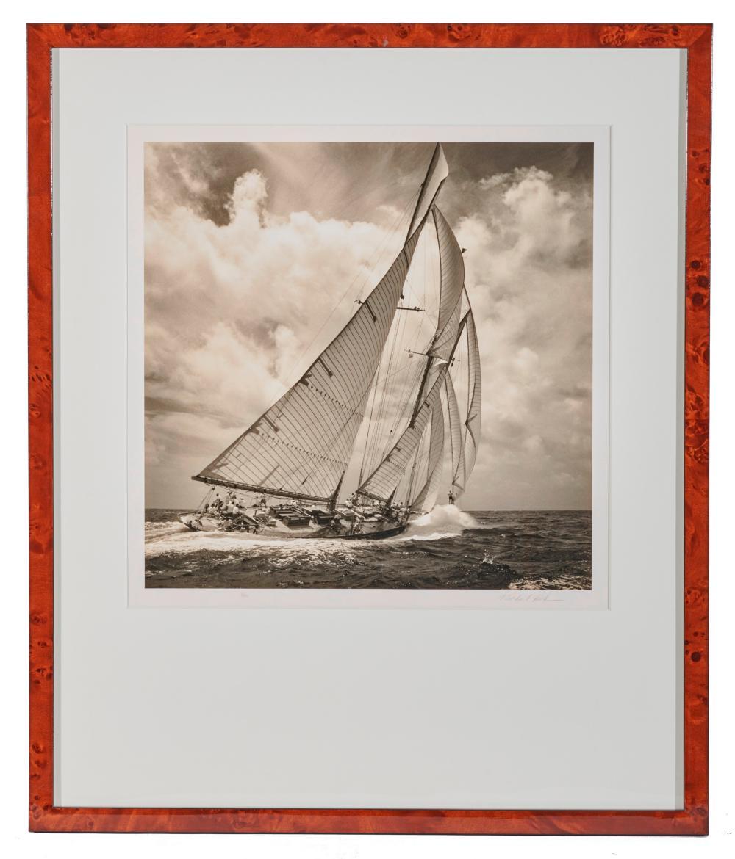 MICHAEL KAHN, (American, b. 1960), Four Racing Views, silver gelatin prints, each image 14 x 14 in., each frame 25 1/4 x 21 1/4 in.