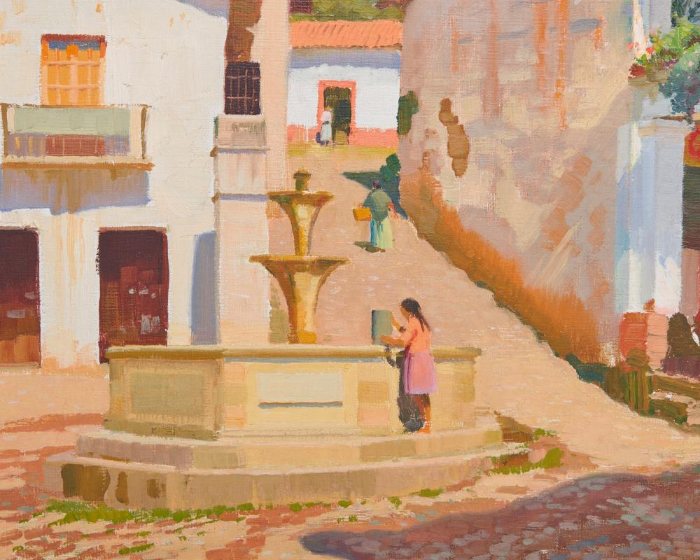ARTHUR GROVER RIDER, (American, 1886-1975), The Watering Place, oil on canvas, 20 x 23 in., frame: 24 1/2 x 27 1/2 in.