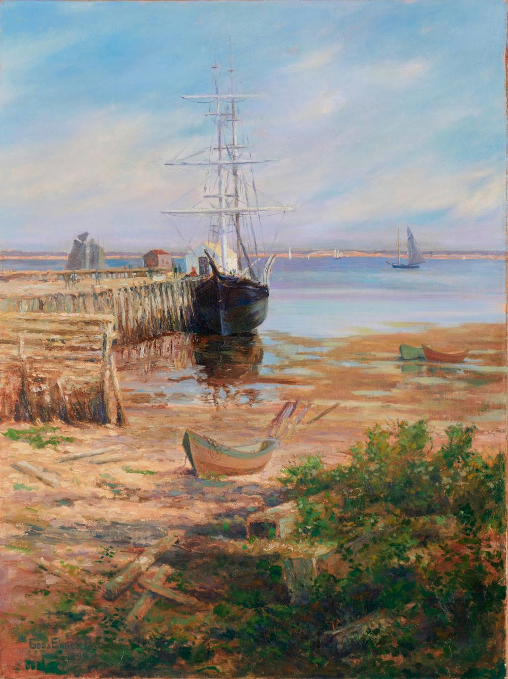 GEORGE ELMER BROWNE, (American, 1871-1946), Harbor View, 1899, oil on canvas, 48 1/2 x 36 1/2 in.