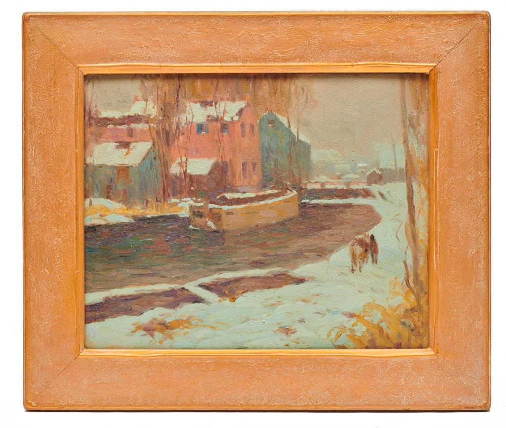 ALFRED RICHARD MITCHELL, (American, 1888-1972), Gray Thaw (after John Fulton Folinsbee), oil on board, 16 x 20 in., frame: 22 1/2 x 26 1/2 in.