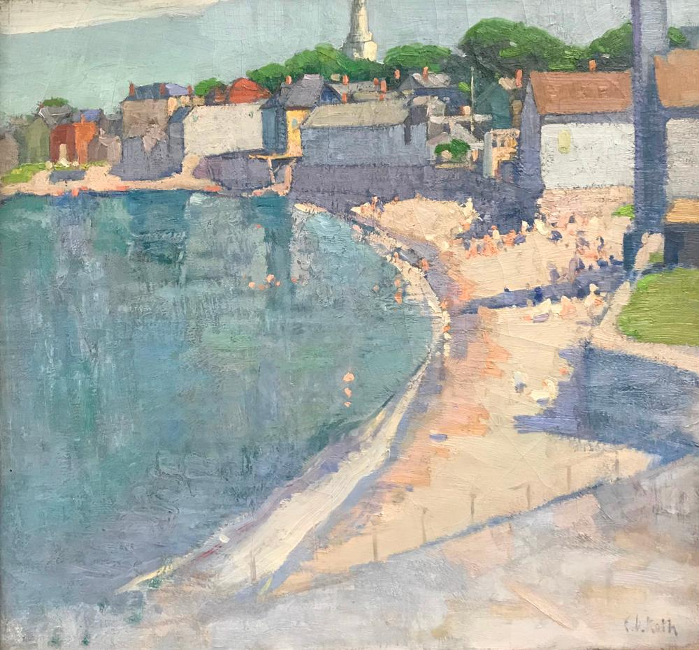 ERNEST DAVID ROTH, (American, 1879-1964), The Beach, Rockport, MA, oil on canvas, 24 x 26 in., frame: 18 1/4 x 30 1/4 in.