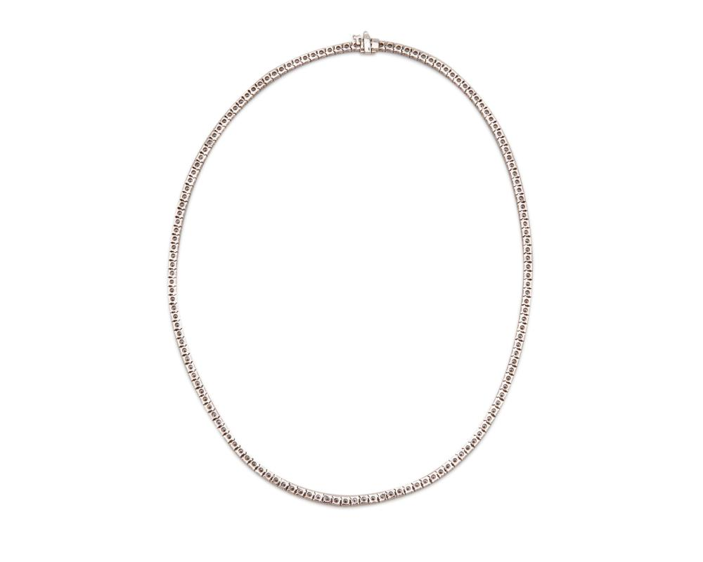 18K Gold and Diamond Line Necklace