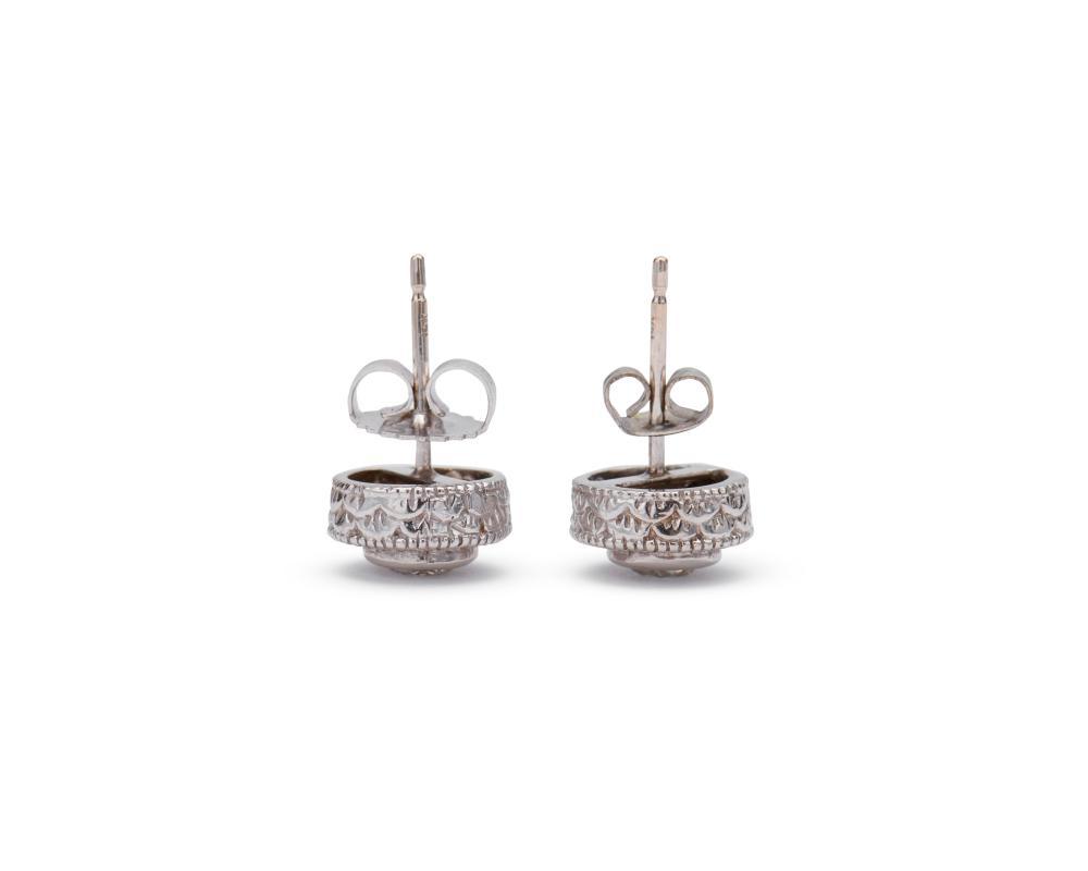 14K Gold and Diamond Stud Earrings