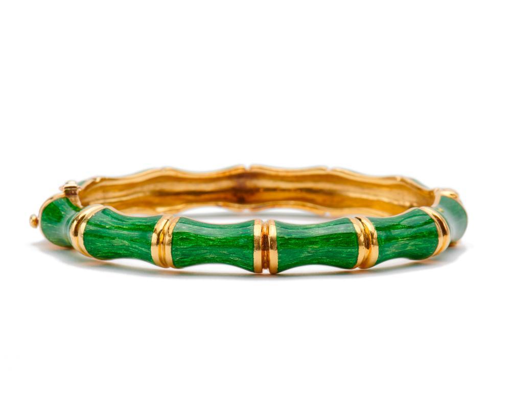 TIFFANY & CO. 18K Gold and Enamel Bracelet