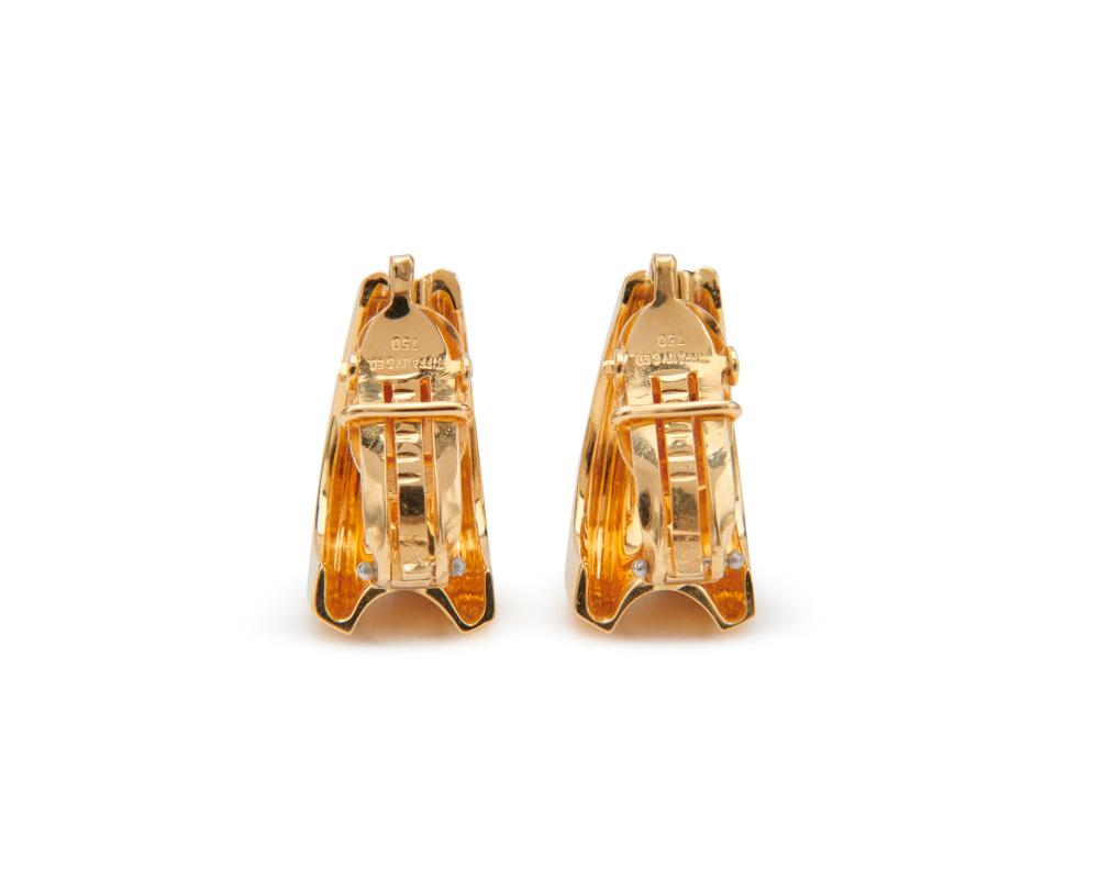 TIFFANY & CO. 18K Gold Hoop Earclips